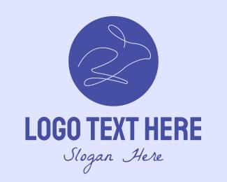 Minimalist - Minimalist Rabbit logo design