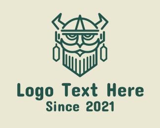 Viking - Ancient Viking Warrior logo design