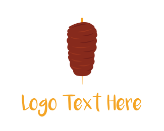 Lamb - Meat Kebab logo design