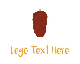 Hot - Meat Kebab logo design