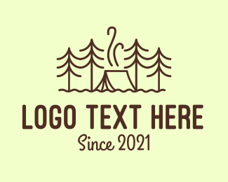 Scout Camp - Forest Camping Tent logo design