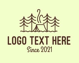 Exploration - Forest Camping Tent logo design