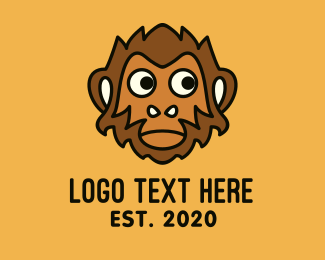 Macaque - Brown Monkey Mascot logo design