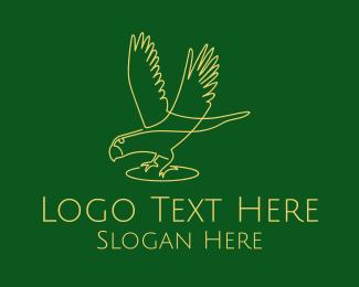 Flying Bird Monoline Logo