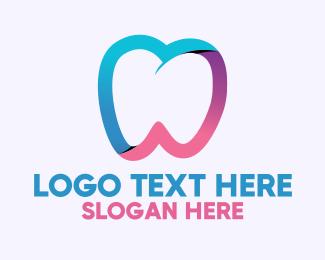 Oral Care - Gradient Healthy Tooth logo design