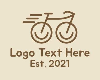 Pedaling - Fast Minimalist Bike logo design