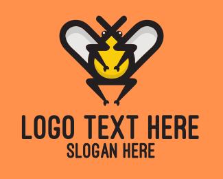 Beehive - Fat Bug logo design