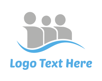 Society - Social Blue Wave logo design