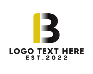 Removalist - Black & Gold Letter B logo design