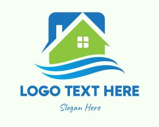 Seaside - Seaside Real Estate House logo design