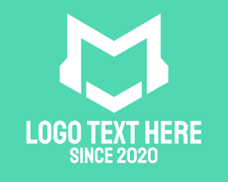 DJ Letter M Logo