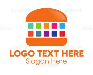 Bitmap - Digital Burger logo design