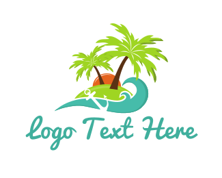 Island - Anchor Island logo design
