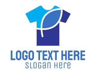 T-shirt - Blue Shirt logo design