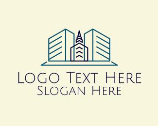 Building - Minimalist Tower Building logo design