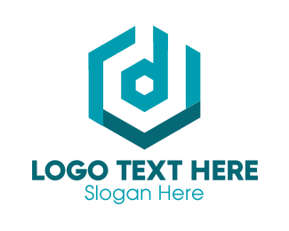 Streamer - Hexagon Letter D logo design