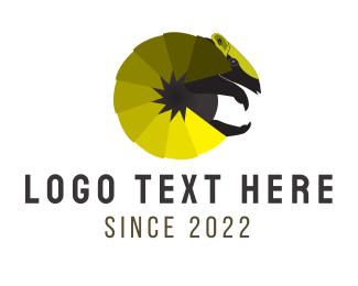 Yellow - Yellow Armadillo logo design