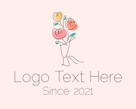 Bouquet - Flower Bouquet Outline logo design
