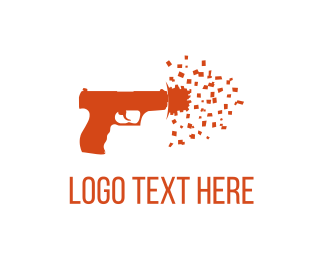 Rifle - Confetti Shot logo design