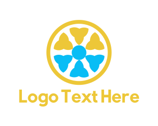 Lemon - Floral Circle logo design