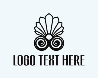 Pearl - Shell Flower logo design