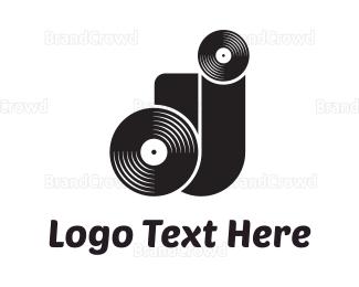 Cd - DJ Letters logo design