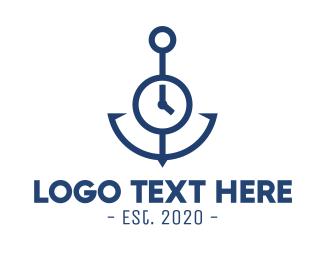 Clock - Clock Anchor logo design