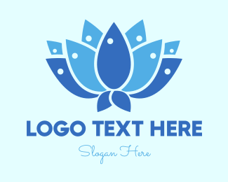 Blossom - Fish Lotus logo design
