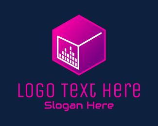 Lounge - Cube Music Club  logo design