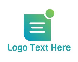 App - Green Note App logo design