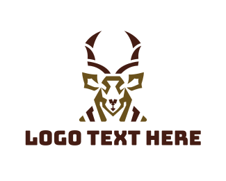 Buffet - Abstract Antelope logo design