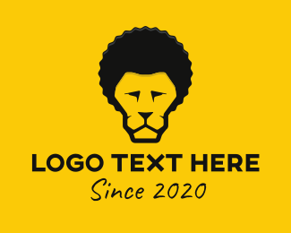 Hairstyle - Afro Lion logo design