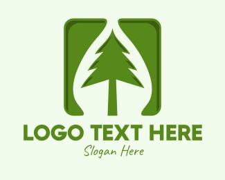 Conifer - Green Forest Tree App logo design