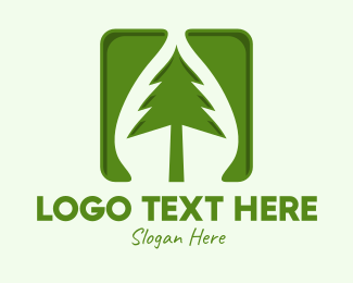 Coniferous - Green Forest Tree App logo design