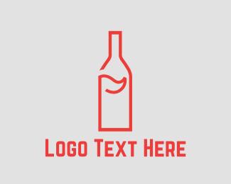 Flag - Bottle Golf logo design