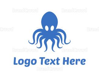 """Blue Octopus"" by samparitex"