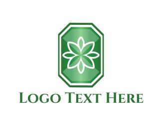 Emerald - Flower Emerald  logo design