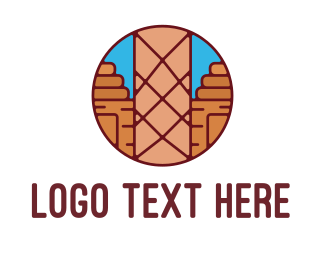 Lumber Mill - Abstract Cabin Badge logo design