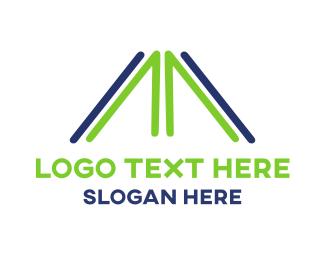 Letter M - Abstract Letter M logo design