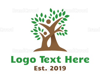 Parenting - Father & Son Tree logo design