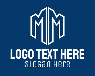 Reflection - Mirror Tower Letter M logo design
