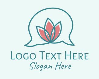 Bubble - Flower Speech Bubble  logo design