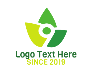 Reusable - Leaf Tech Number 9 logo design