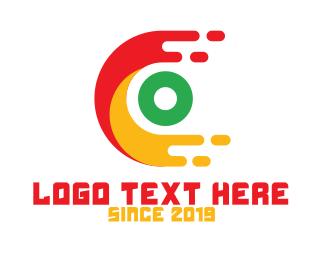 Data Transfer - Modern C Monogram logo design