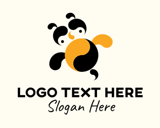 Bee Sting - Yin & Yang Bee logo design