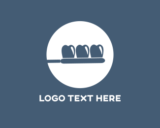 Toothbrush - Toothbrush Circle logo design