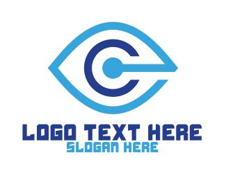 Vision - Blue C Vision logo design