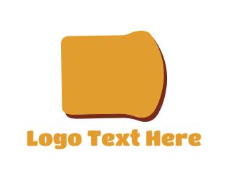 Breakfast - Bread Slice logo design