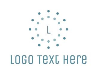 Dot - Circle Dotted Lettermark logo design