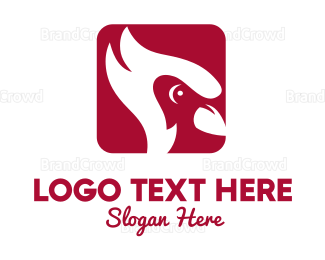 Wildlife - Red Cardinal Cartoon logo design